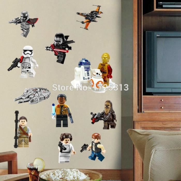 Lego Stickers Nurseries Kid Affiche Art Muraux Wars Film Pour Star VpzLqUGMS