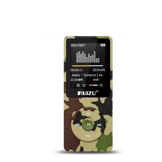 LECTEUR MP3 Ruizu X02 Sans Perte Flac Mini Hifi Numérique Spor