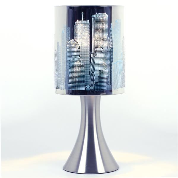 lampe touch bleue achat vente lampe touch tactile. Black Bedroom Furniture Sets. Home Design Ideas