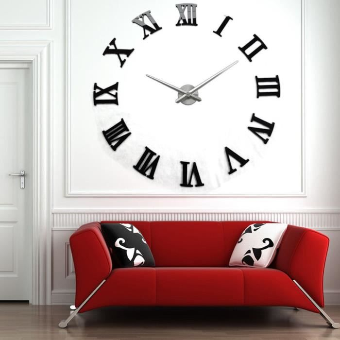 horloge 3d chiffre romain achat vente horloge 3d. Black Bedroom Furniture Sets. Home Design Ideas