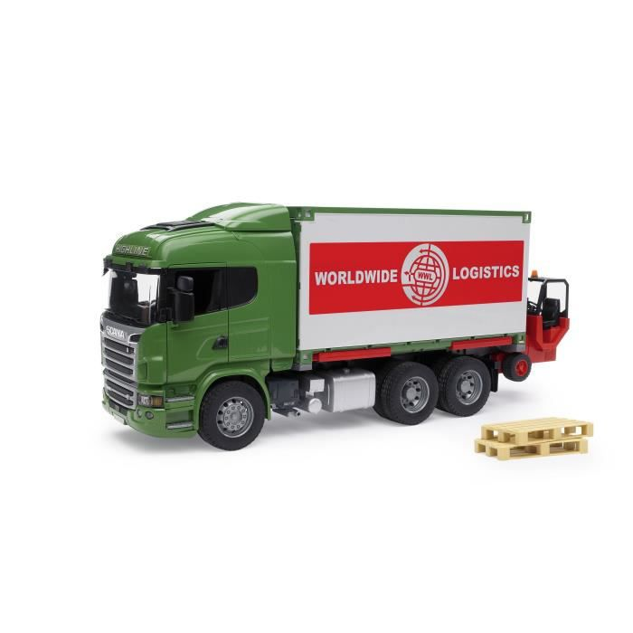 Bruder 3580 camion scania r serie avec container for Container modulable