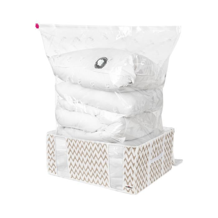 compactor ikat xxl beige achat vente housse de rangement compactor ikat xxl beige cdiscount. Black Bedroom Furniture Sets. Home Design Ideas