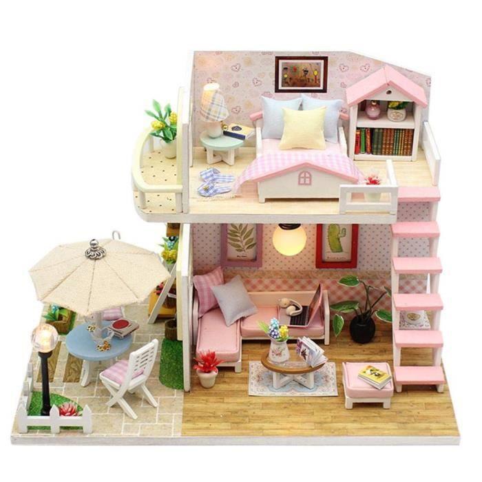 Maison De Poupee En Bois Meubles Fait A Main Maison Miniature Mini Brico Ge Modele Jouets Pour Enfants Cadeau Achat Vente Maison Poupee Cdiscount