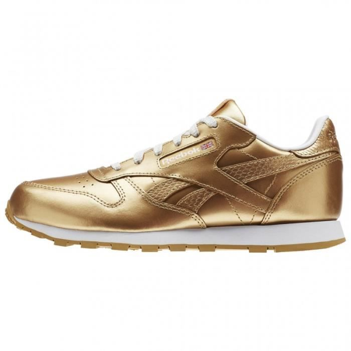 BASKET - reebok classic leather metallic