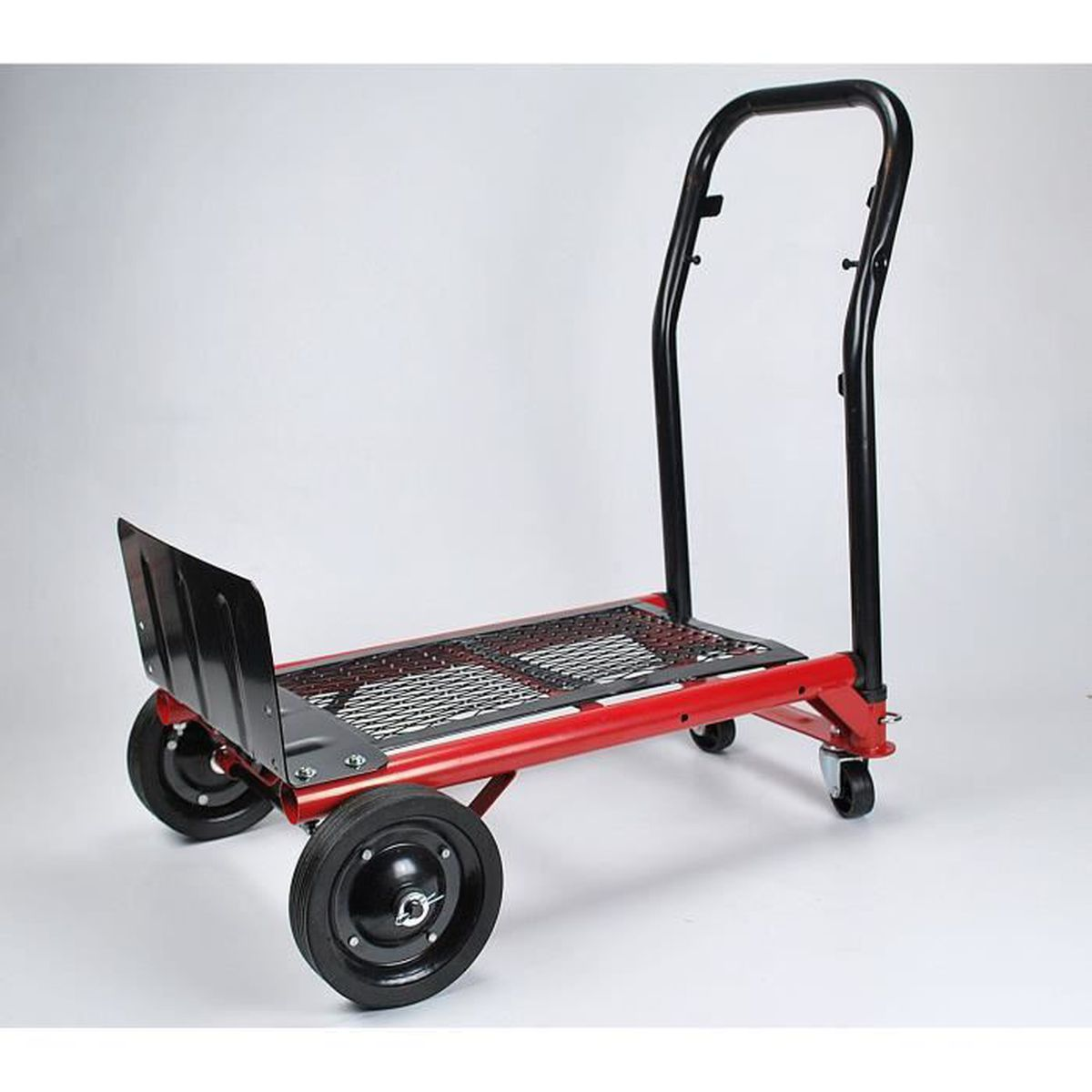 Tec Hit 175280 Diable rigide multi usages 80 kgs Rouge Et Noir