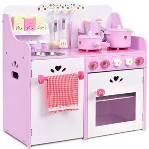 DINETTE - CUISINE Cuisine enfant cuisine jouet pour enfant rose et b