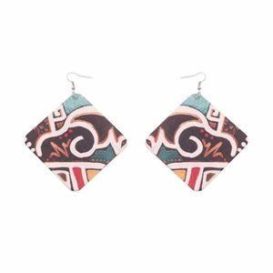 Boucle d'oreille Boucles d'oreilles 2018 style rétro pop colé rhomb
