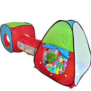 TENTE TUNNEL D'ACTIVITÉ  Tente de Jeu Enfant, Tente à Balles avec Tunnel