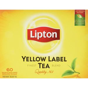 THÉ Lipton Thé Noir Yellow Label Tea x60 Sachets 120g
