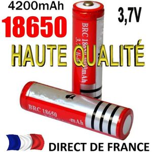 BATTERIE INFORMATIQUE 2 Piles Accus Batteries 18650 3.7V Rechargeable Ba