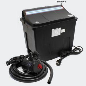 BASSIN D'EXTÉRIEUR Filtre bio système de Filtration complet, UV+ Pomp