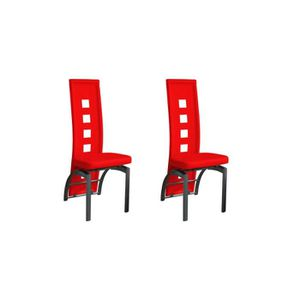 CHAISE Eve - Lot 2 Chaises Rouges