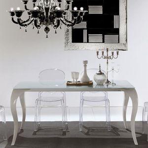 TABLE À MANGER SEULE Table à manger extensible blanche SERENA