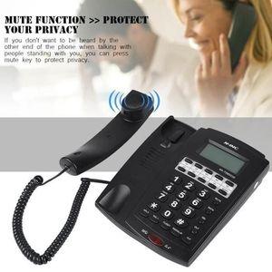 Téléphone fixe Téléphone Filaire Avec Numéro Abrégé À 8 Groupes A
