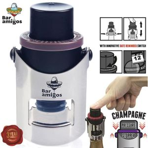 POMPE CONSERVATION VIN Bar Amigos® Champagne Pressure Stopper Red Rouge -