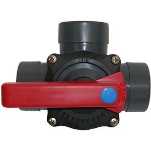 LOCAL POUR POMPE  Vanne 3 voies Pvc pression à coller diam. 50mm