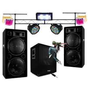JEUX DE LUMIERE DJ PACK SONO + JEUX DE LUMIÈRE + PORTIQUE DJ 3M RO