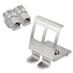 Baoblaze 2pcs Audio 2.5mm en Forme de L Audio /à Angle Droit 4 P/ôles M/âle Connecteur Conducteur Argent Or