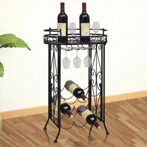 MEUBLE RANGE BOUTEILLE Cabinet Vin métal rack vin Support pour 9 bouteill