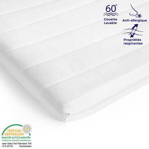 SUR-MATELAS Surmatelas 90x190 mousse confort housse microfibre