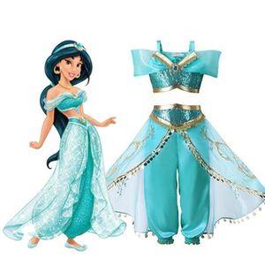 ROBE Filles Lampe de Aladdin Jasmine Princesse Costumes
