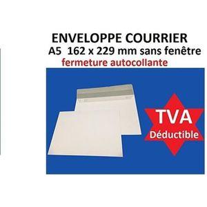 ENVELOPPE lot de 50 enveloppe courrier A5 - C5 papier velin
