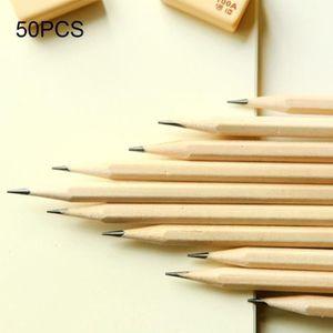 CRAYON GRAPHITE Crayon 50 PCS brut en bois protection de l'environ