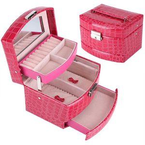 BOITE A BIJOUX Luxe Boîte à bijoux Boîte de rangement multicouche