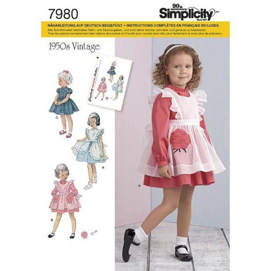 Patron Simplicity 7980 Robe et tablier fillette : A - Achat ...