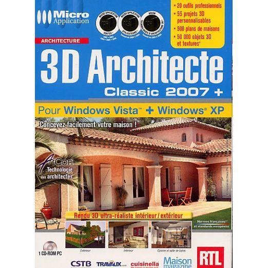 3D ARCHITECTE CLASSIC 2007+ / PC CD-ROM