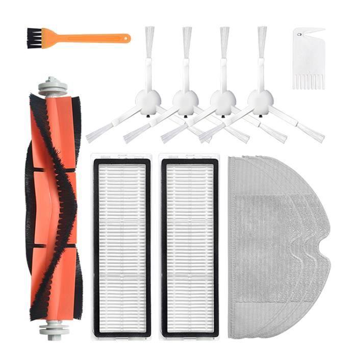 12PCS pieces de remplacement pour Aspirateur robot de balayage à balayage Xiaomi Mijia 1C