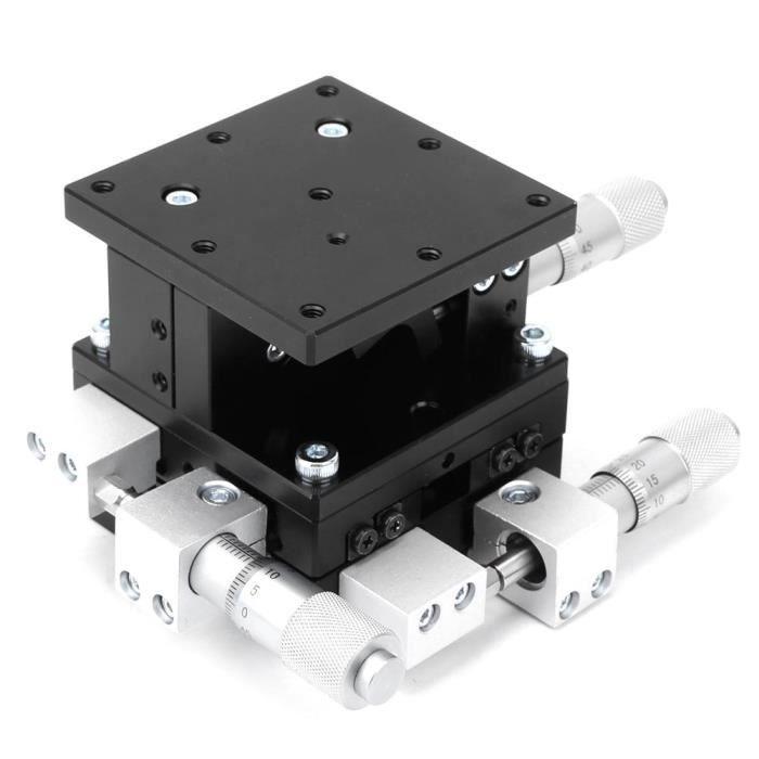 Table de réglage de plate-forme de coupe linéaire manuelle LD60-LM XYZ 3 axes 60 x 60 mm