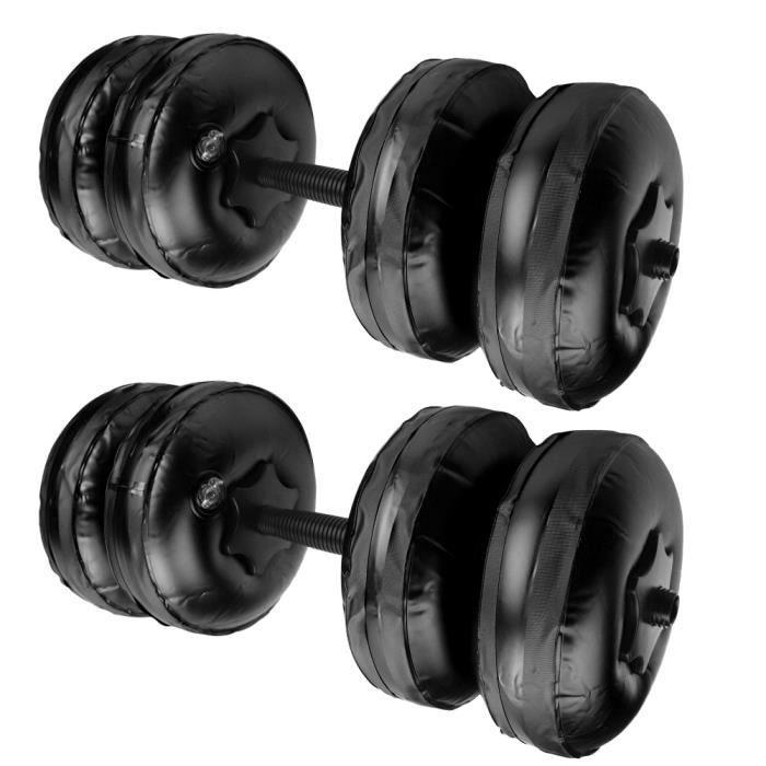 Poids de formation de muscle de bras d'haltère rempli d'eau de sécurité de remise en forme portable réglable(16‑20KG noir )-ROS