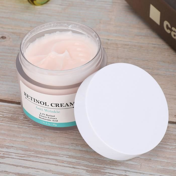 50g Crème Faciale au Rétinol-Crème de Soin du Visage Hydratante
