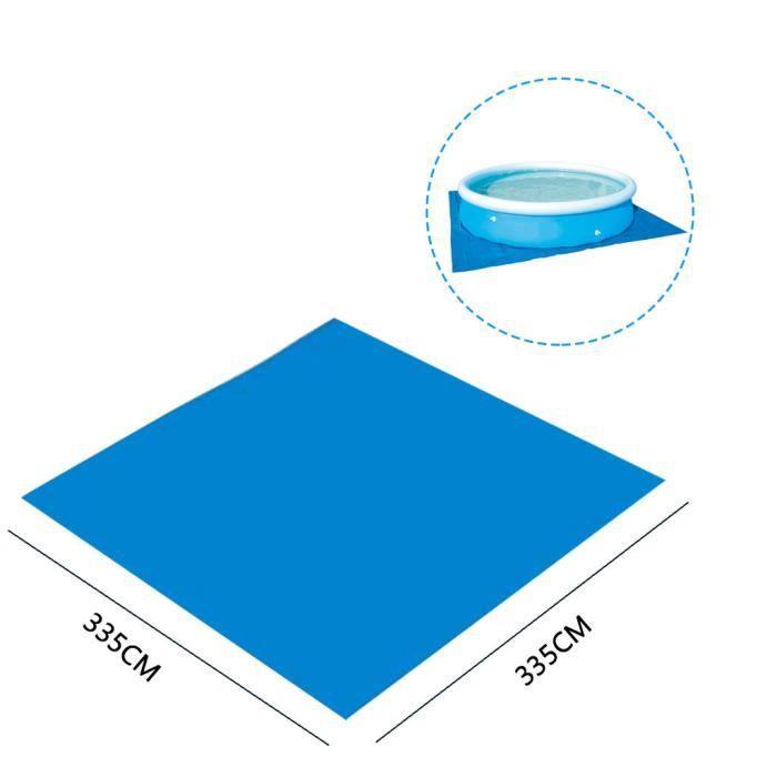 Couverture anti-poussière de tapis de tissu de plancher de tapis de piscine ronde pour l'amusement extérieur de piscine d'eau