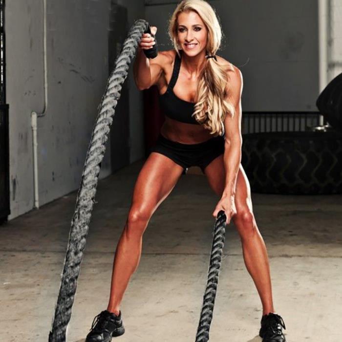 HFT@38mm*12m Corde d'entrainement formation Fitness corde épaisse muscle corde de combat de bataillePuissance Exercice Fitness Boot