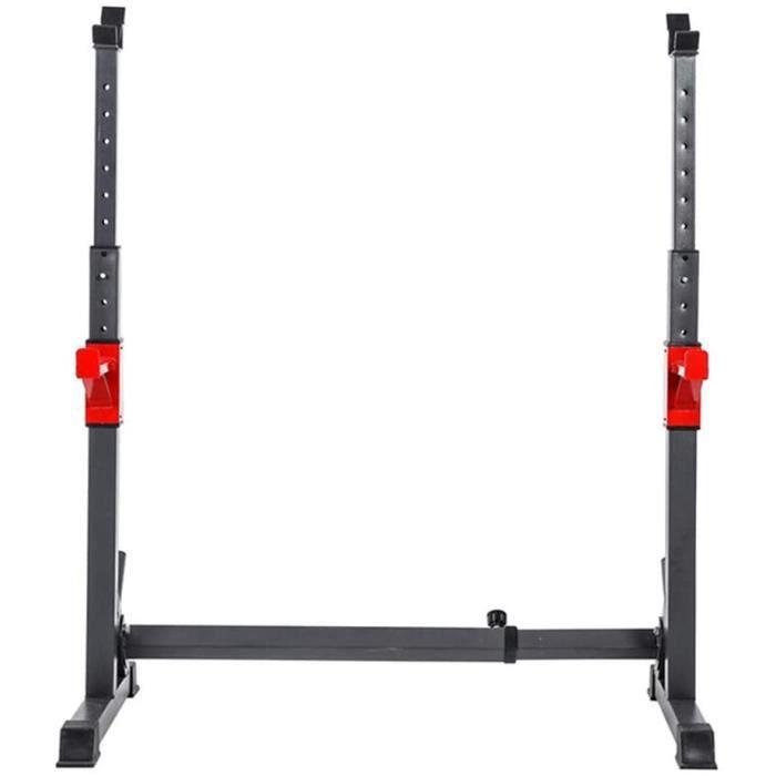 Supports de Rack Squat Support pour HaltèRes Heavy Duty Rack Banc Barbell Stand, Ajustez Le Support de Poids de Support de Pres252