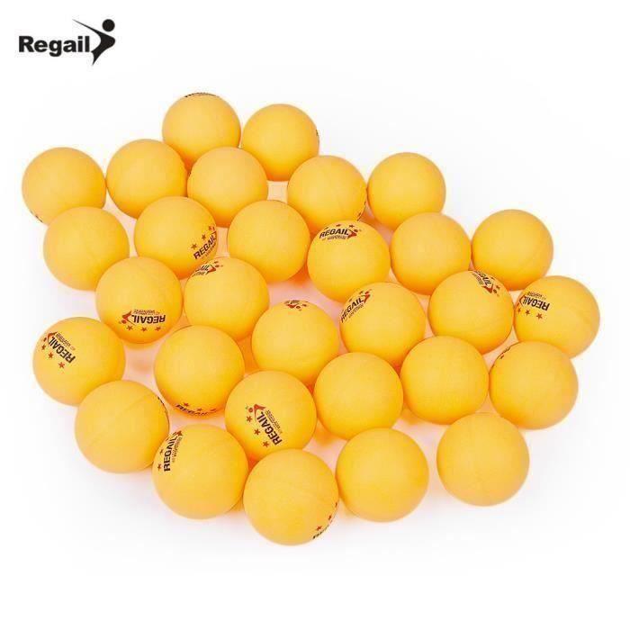 REGAIL Lot de 30 3-star Balles de table en teenis Advanced Balles de ping pong sport Balles d'entraînement de tennis de table L028B3
