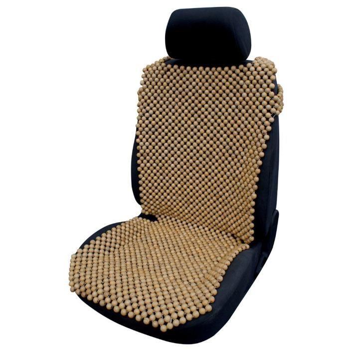 Cora - 000127406 - Couvre-siège auto en billes de bois naturel