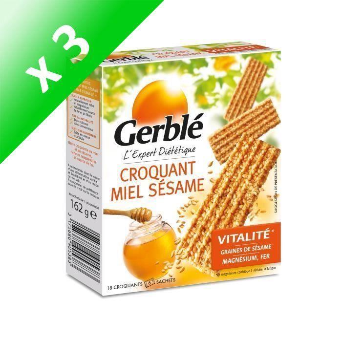 [LOT DE 3] Croquants miel sesame 162 g Gerblé