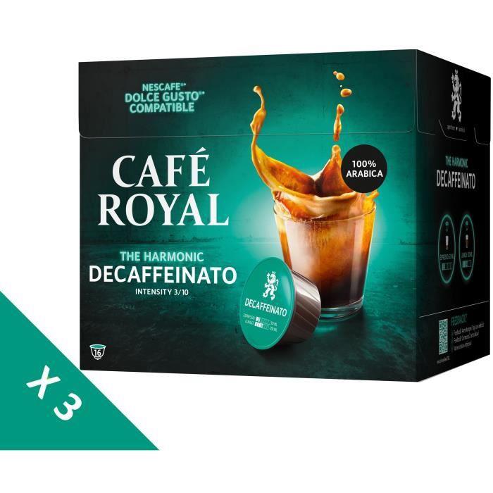 [Lot de 3] CAFE ROYAL Café Compatible Dolce Gusto Decaffeinato x16