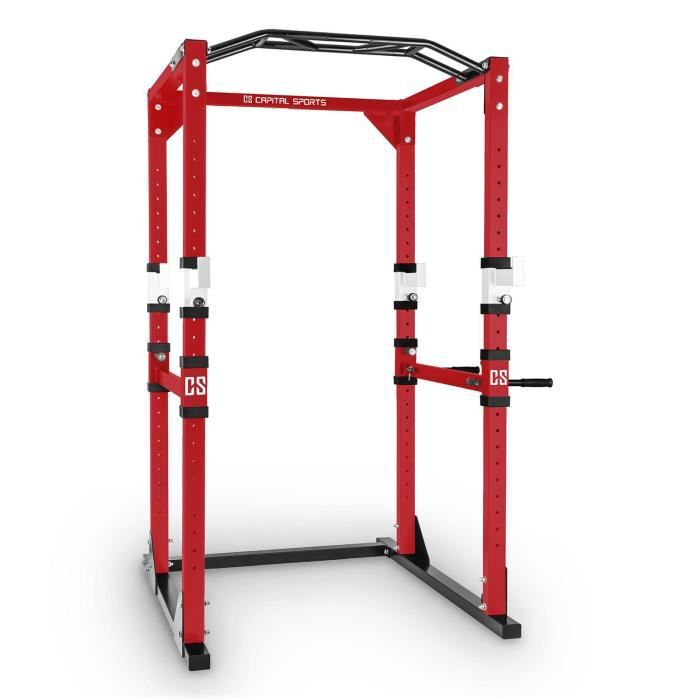 CAPITAL SPORTS Tremendour Power Rack Home gym Acier - rouge/blanc