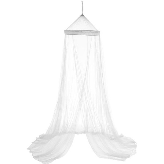 Ciel de lit blanc 60x250 cm Autres Blanc