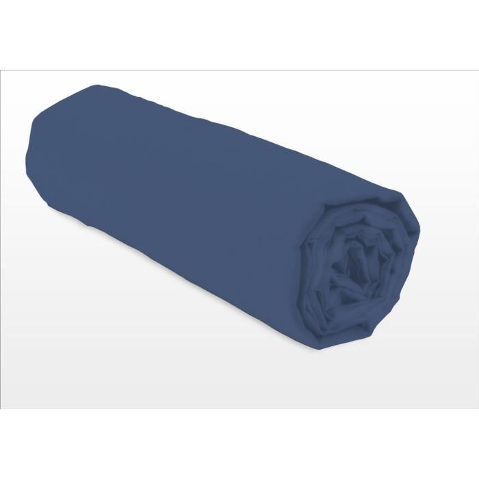 LOVELY HOME Lot de 2 taies d'oreiller carrés - 63 x 63 cm - 100% coton - Bleu