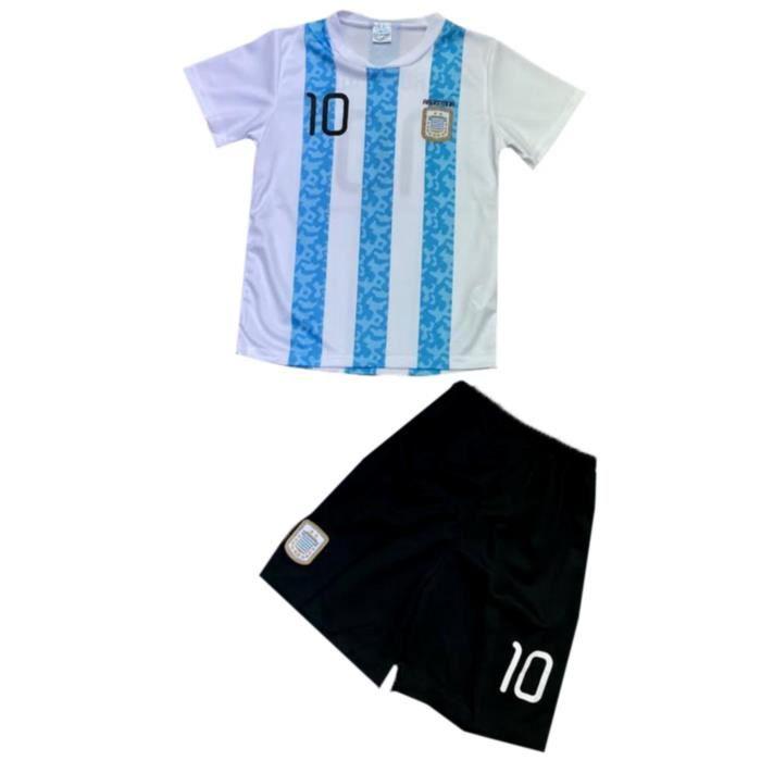 Ensemble De Vetements De Football - Tenue De Football - NPZ - Ensemble short et maillot de foot Argentine news enfant Taille de 2