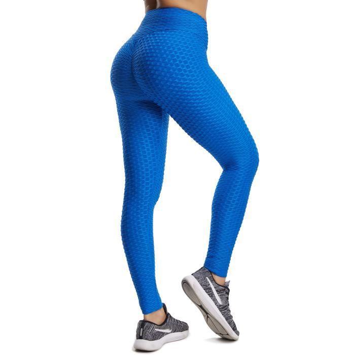 FITTOO Leggings de Sport Anti-Cellulite Femme Collant de Compression Taille Haute Slim Push Up Butt Lifter pour Gym Jogging Fitness