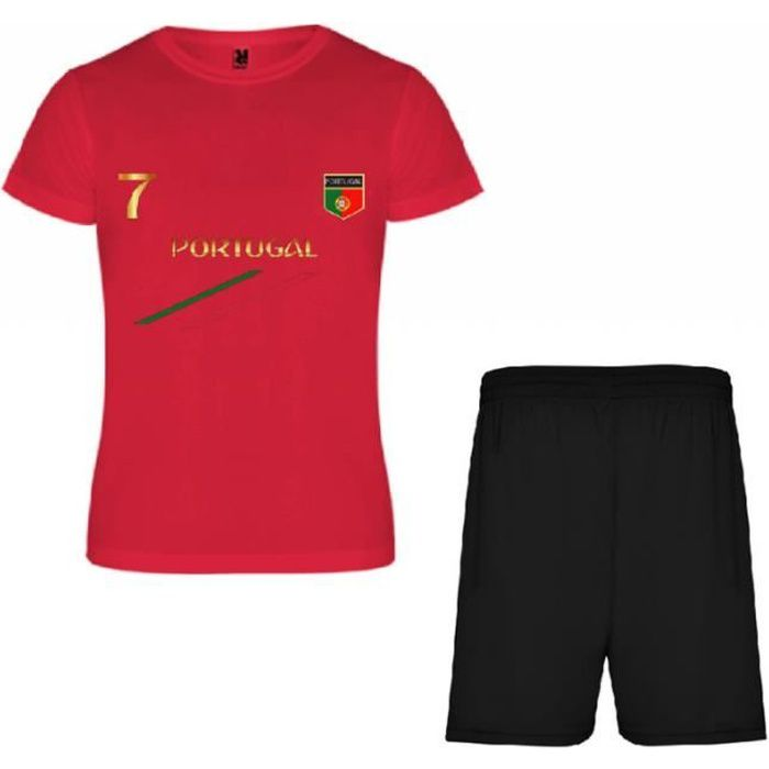 rouge Ensemble de foot Portugal en