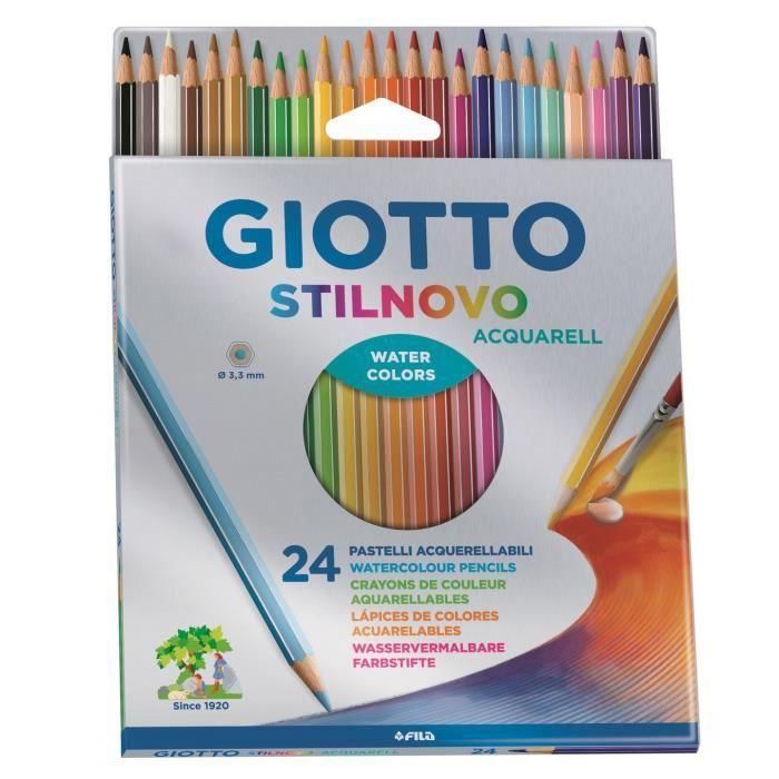 Giotto Stilnovo Acquarell 24 crayons de couleurs