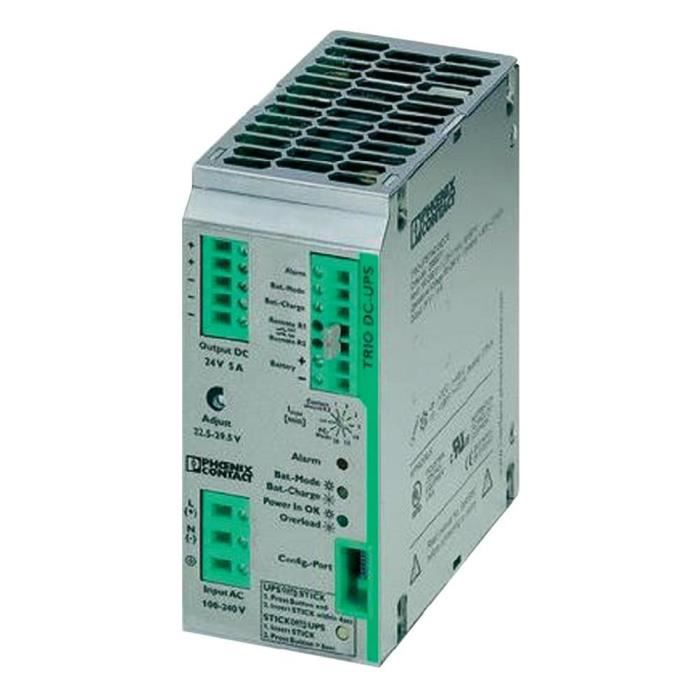 Alimentation secourue 24 V DC 5A Phoenix Contact TRIO-UPS/1AC/24DC/5