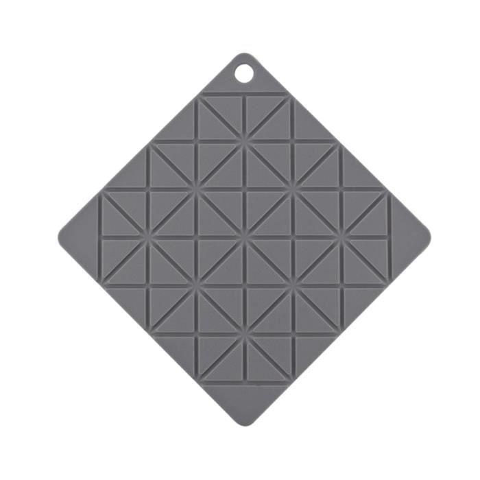 1 tapis de cuvette de silicone d'isolation thermique de napperon de PC pour la maison de cuisine ASSIETTE - PLATEAU REPAS